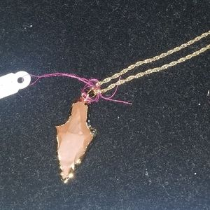 Gold filled arrowhead necklace